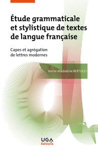 Livre numérique Étude grammaticale et stylistique de textes de langue française