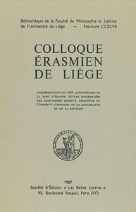 Livre numérique Colloque érasmien de Liège