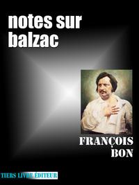 Livre numérique Notes sur Balzac