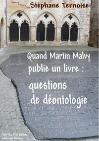 Livre numérique Quand Martin Malvy publie un livre: questions de déontologie